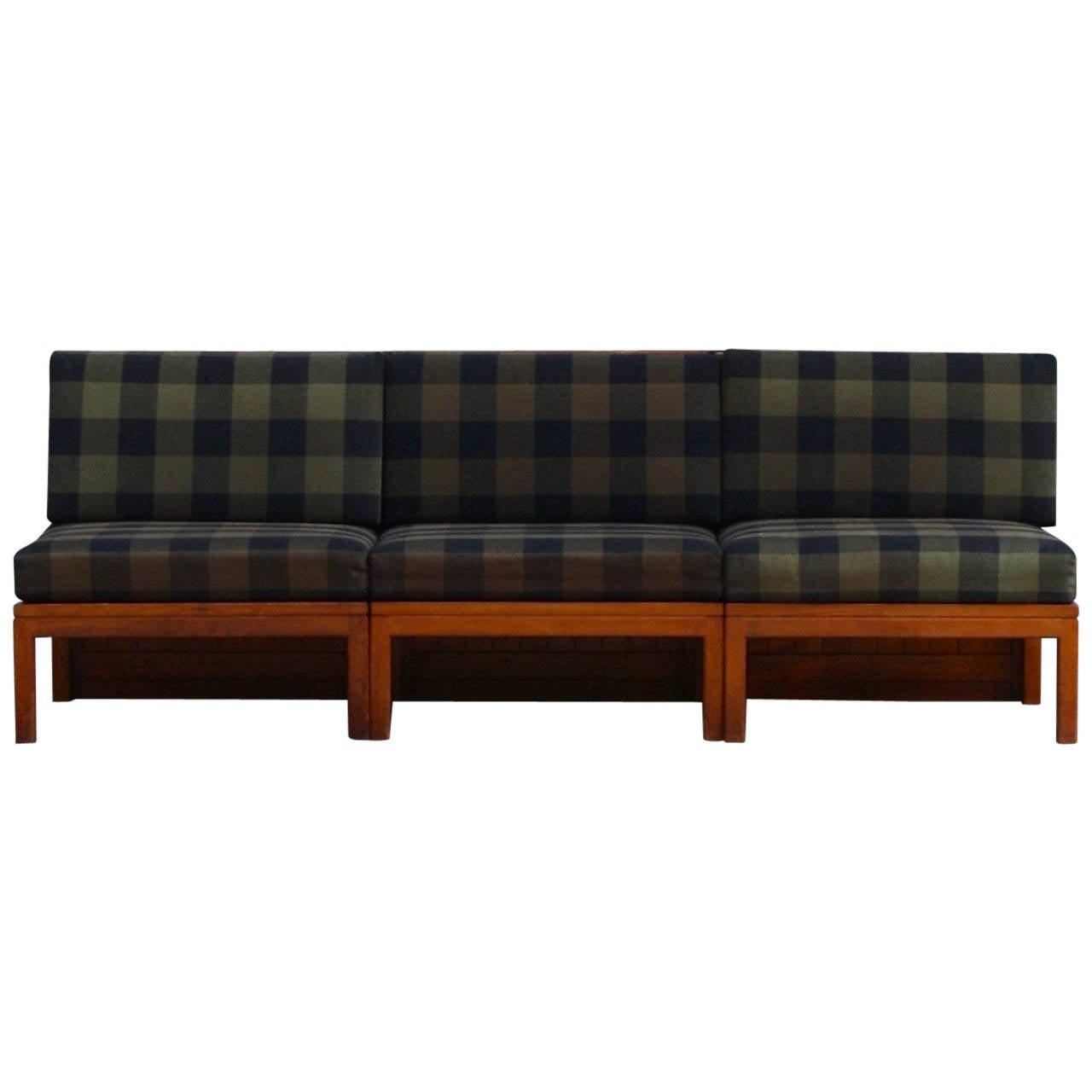 Mogens Koch Three-Piece Modular Sofa
