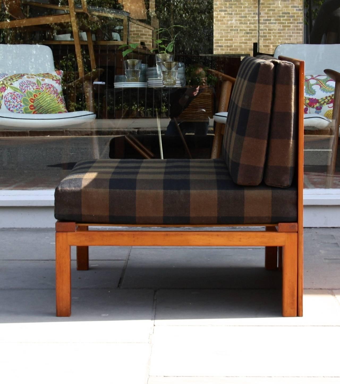 Gentil Scandinavian Modern Mogens Koch Three Piece Modular Sofa For Sale