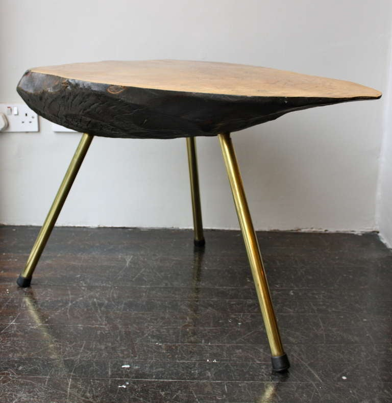 Tree Side Table ~ Strong tree trunk table by carl aubock at stdibs