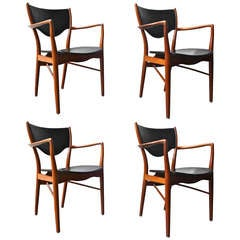 Set of 4 Armchairs by Finn Juhl
