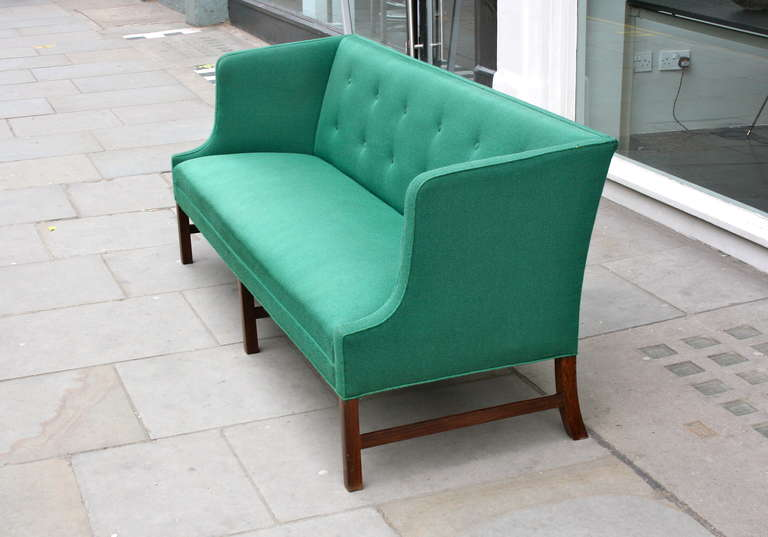 Fantastic Long Green Sofa by Ole Wanscher In Good Condition In London, GB