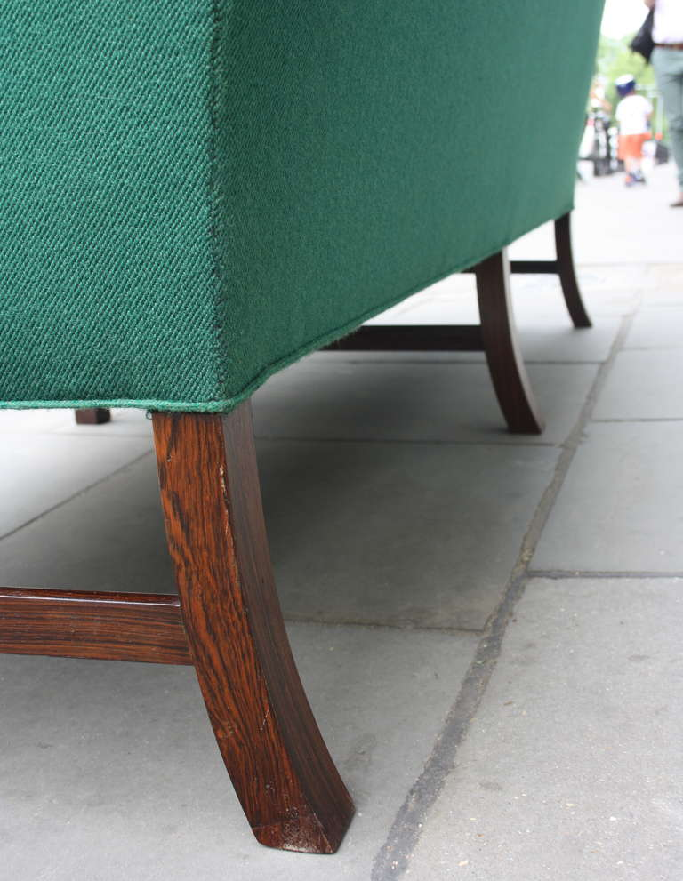 Upholstery Fantastic Long Green Sofa by Ole Wanscher
