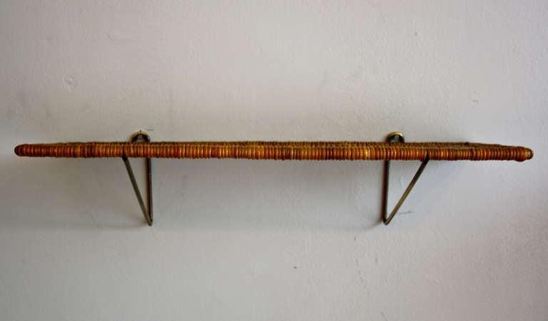 Carl Auböck Brass & Wicker Shelf 2