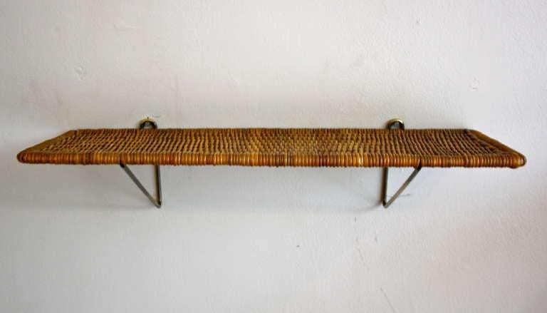Carl Auböck Brass & Wicker Shelf 4