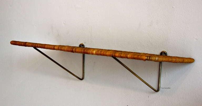 Carl Auböck Brass & Wicker Shelf 3