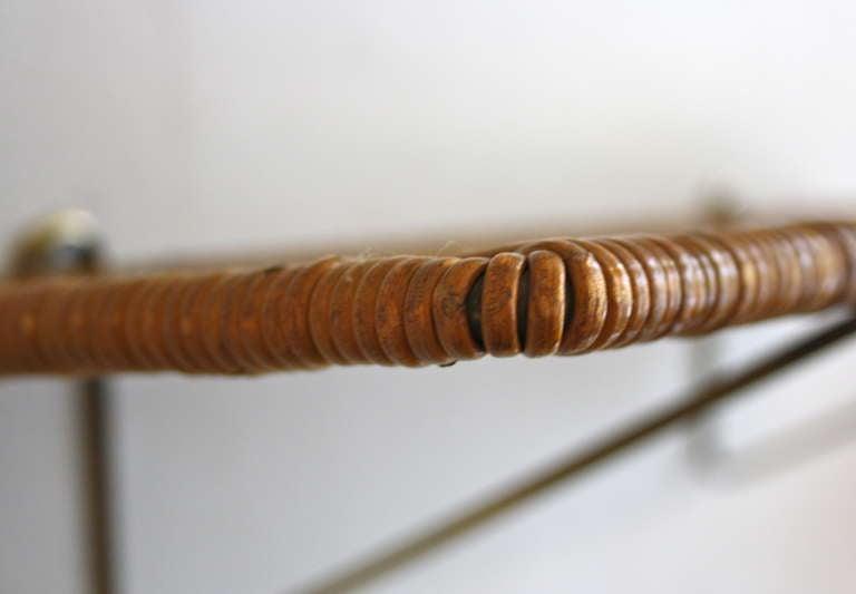 Carl Auböck Brass & Wicker Shelf 5