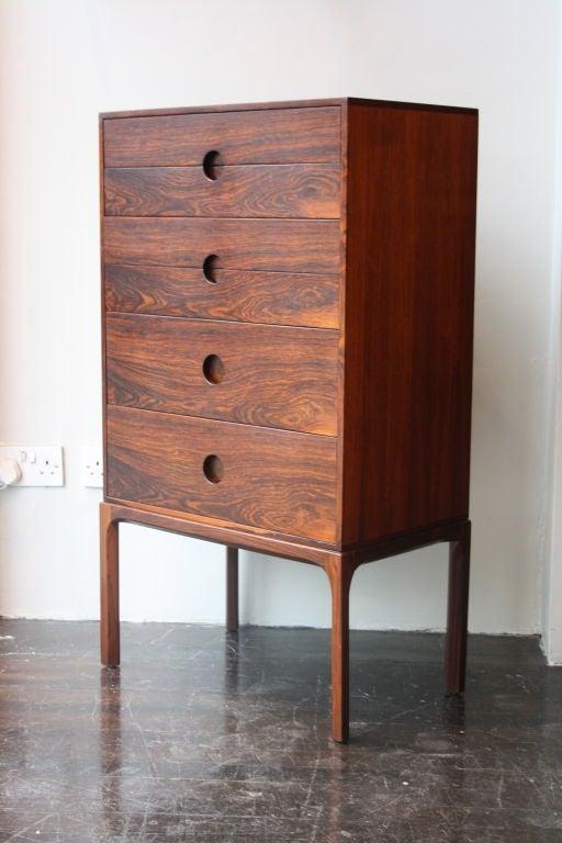Rosewood tallboy by axel kjaersgaard at 1stdibs for 1950s minimalist house