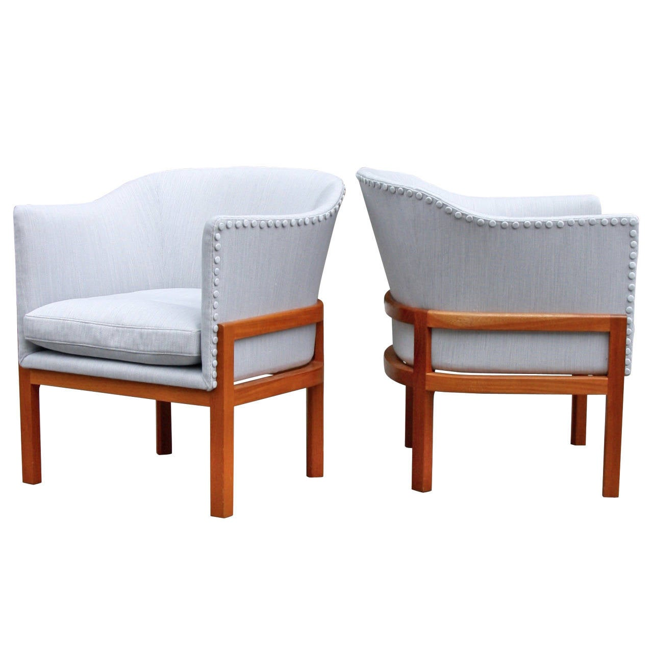 rare mogens koch pair of mk51 easy chairs for sale at 1stdibs