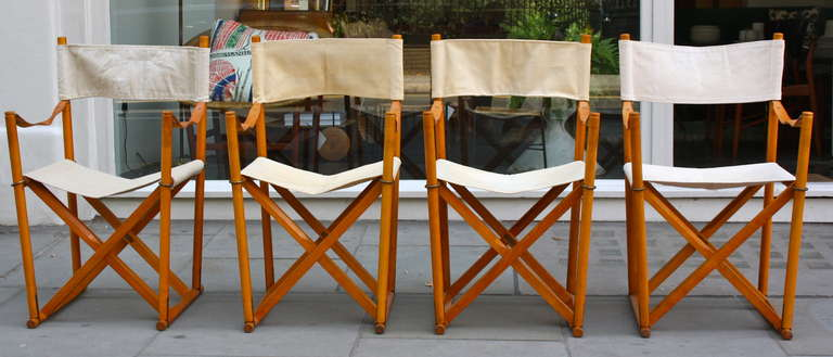 A Lovely Set Of Four MK 16 Chairs Designed By The Professor Mogens Koch,