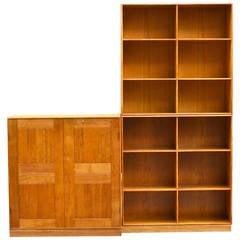 Mogens Koch Set of Oak Bookshelves and Cabinet