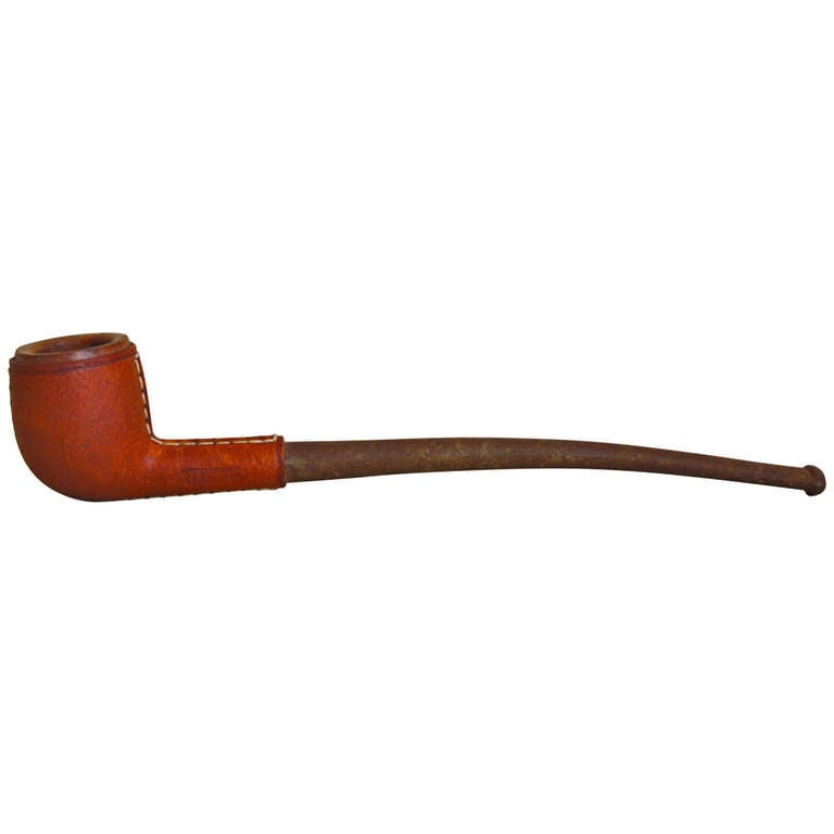 Carl Auböck Leather Covered Pipe