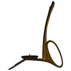 Very Rare Early Horn Candleholder by Carl Auböck