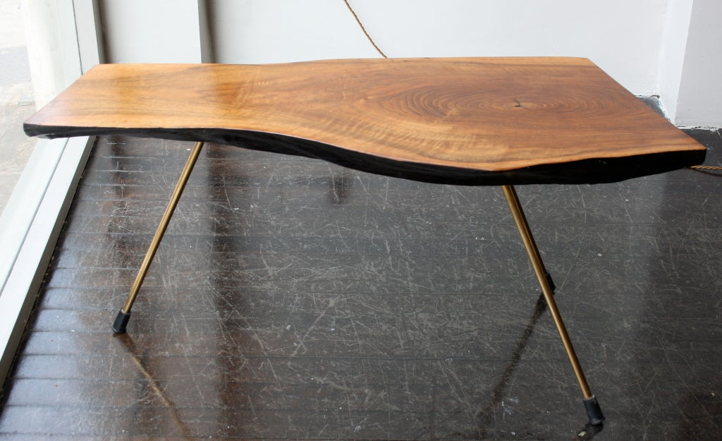 Carl aubock treetrunk table at 1stdibs - Tree trunk table and chairs ...