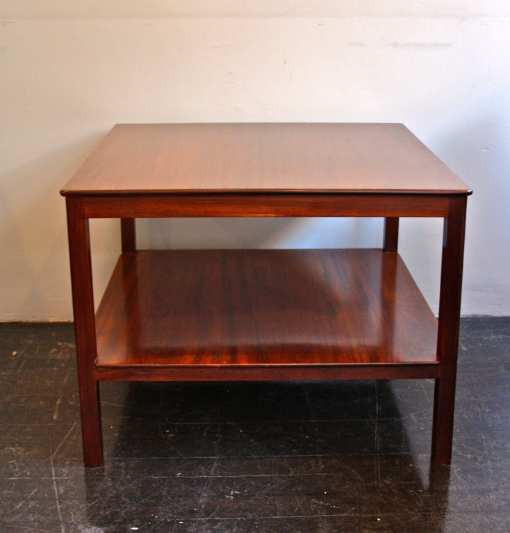 Great two tier Mahogany table designed by Kaare Klint and made by mastercabinetmakers Rud Rasmussen.