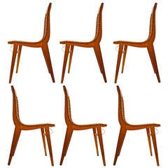 Six Dining Chairs by Louis Sognot