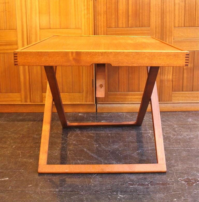 Low Fold Away Coffee Table: Folding Sidetable By Mogens Koch At 1stdibs