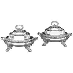 Tiffany & Co. Chrysanthemum Entree Dishes