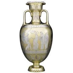 Victorian Parcel-Gilt Vase by D & C Houle