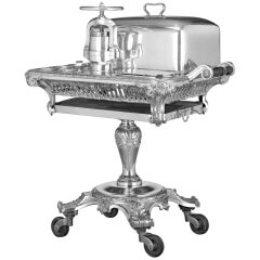 Belgian Meat Carving Trolley with Duck Press