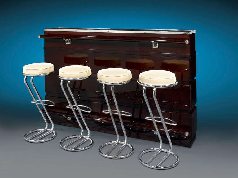 Art Deco Bar And Stools At 1stdibs