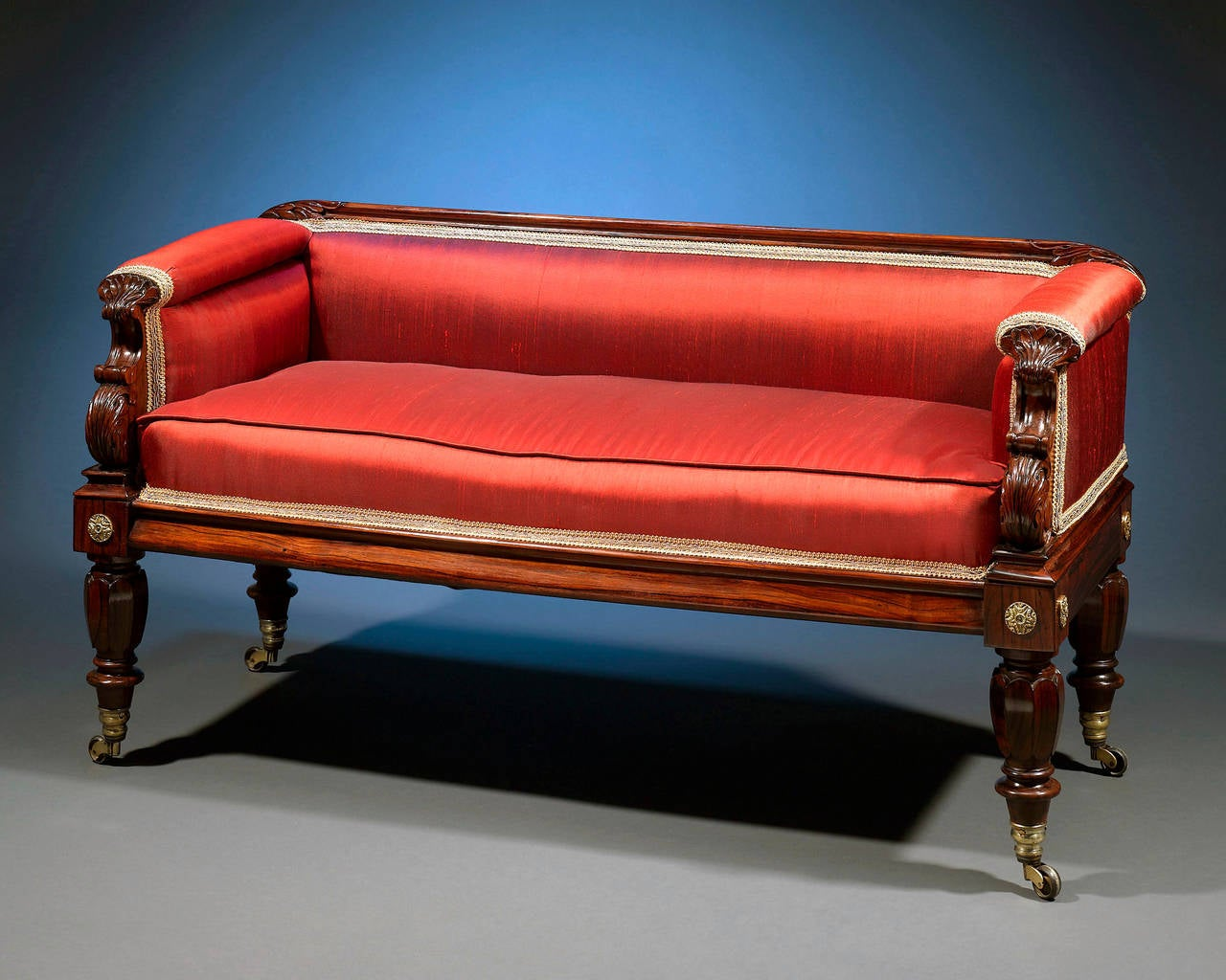 Regency rosewood settee for sale at 1stdibs for Settees for sale