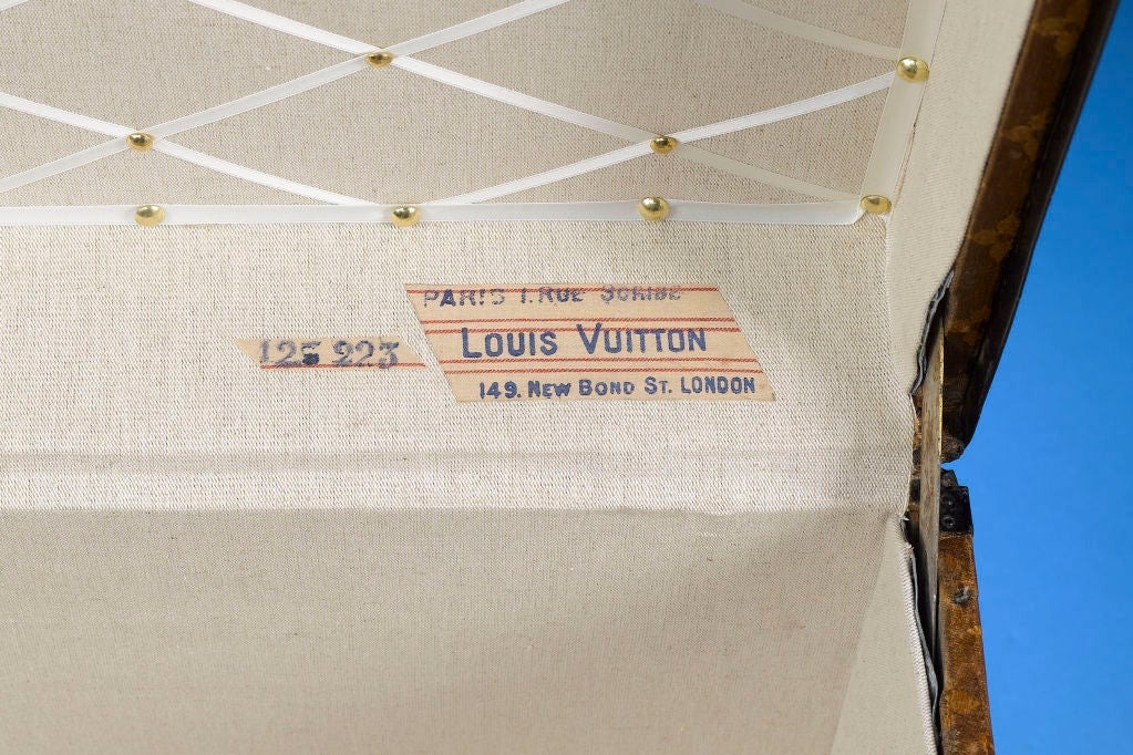 French Antique Louis Vuitton Steamer Trunk For Sale