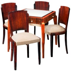 Art Deco Games Table & Chairs