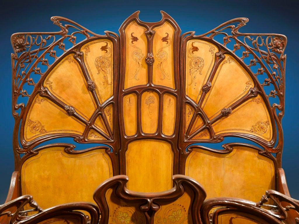 Rare Art Nouveau Bed image 3