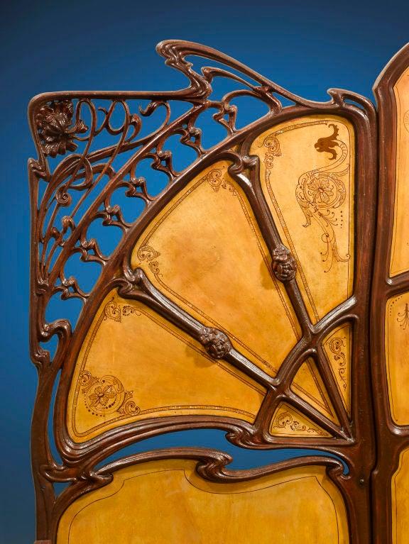 Rare Art Nouveau Bed image 4