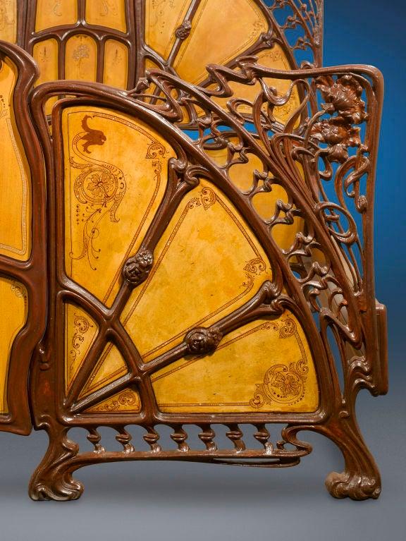 Rare Art Nouveau Bed image 5