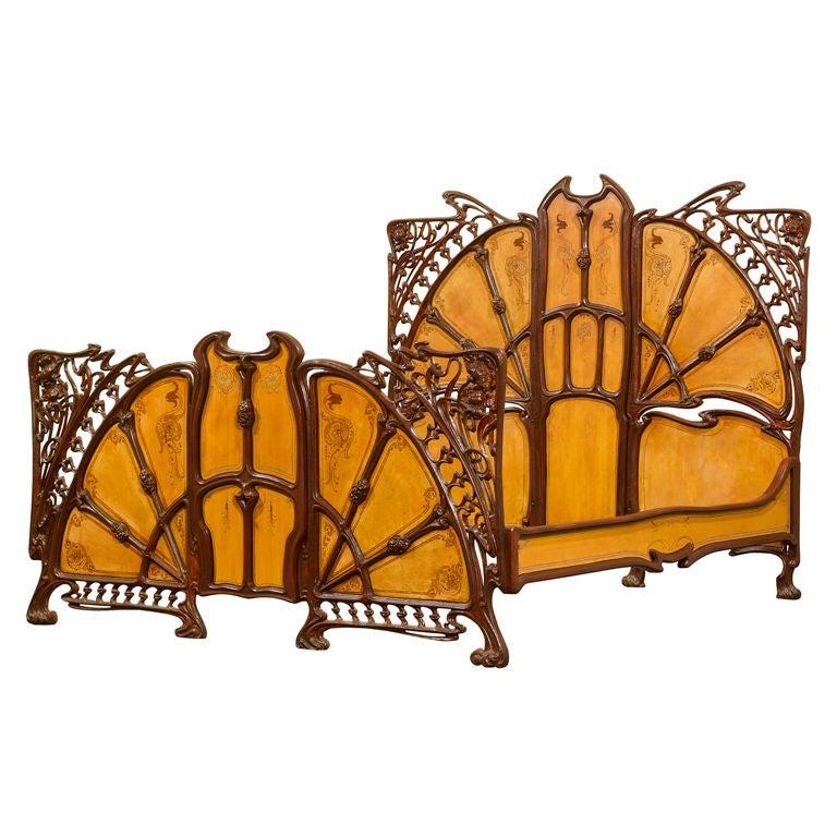 Rare Art Nouveau Bed