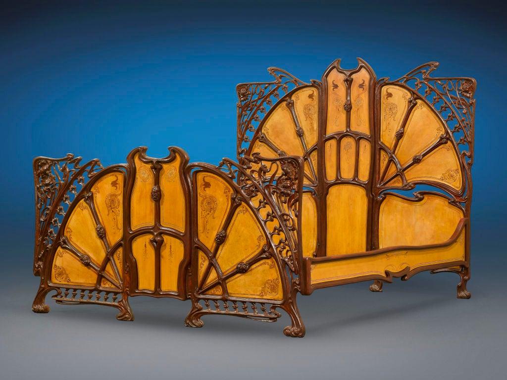 Rare Art Nouveau Bed image 2