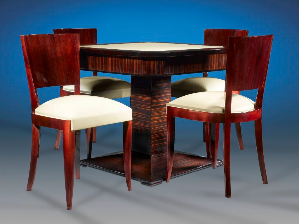 art deco card table and chairs at 1stdibs. Black Bedroom Furniture Sets. Home Design Ideas