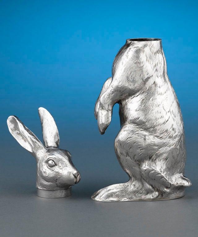 Silver Rabbit Decanter