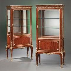 Pair of 19th Century French Vitrines