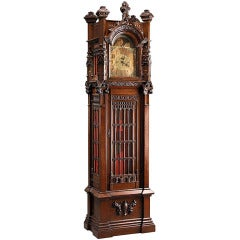 Gothic-Style Grandfather Clock
