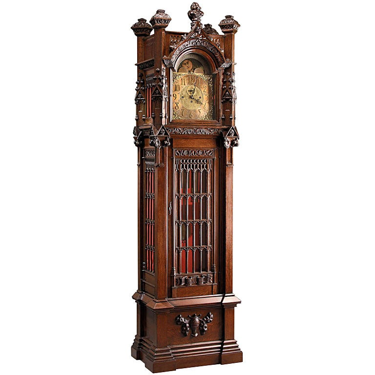 Antique Grandfather Clock Drawings Gothic-style grandfather clock