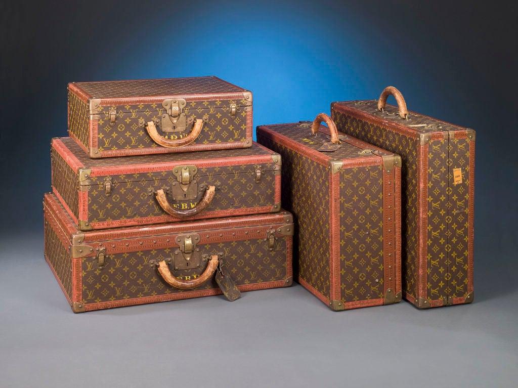 Set of Five Louis Vuitton Suitcases 2