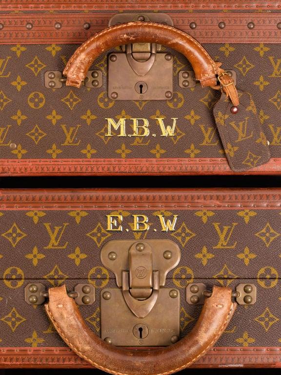 Set of Five Louis Vuitton Suitcases 4
