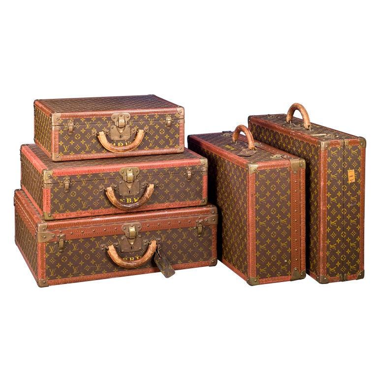 Set of Five Louis Vuitton Suitcases 1