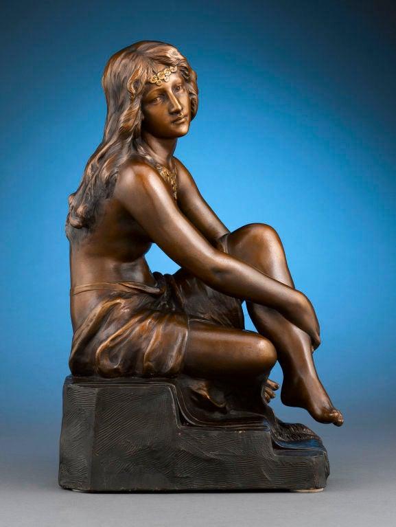Art Nouveau Terra Cotta Nude 2