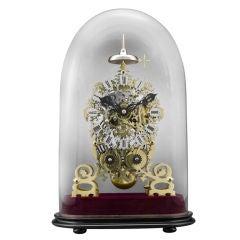 Victorian Brass Skeleton Clock