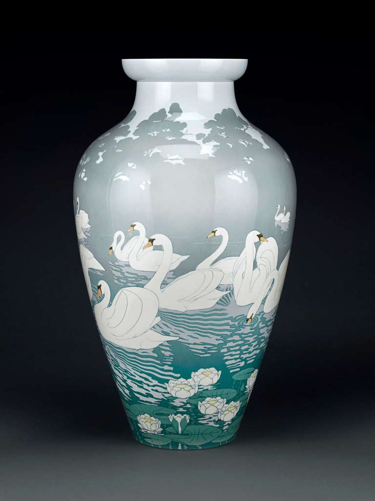 Sevres swan vase from 1900 paris worlds fair at 1stdibs this extraordinary svres vase was made for and exhibited at the 1900 paris worlds fair floridaeventfo Choice Image