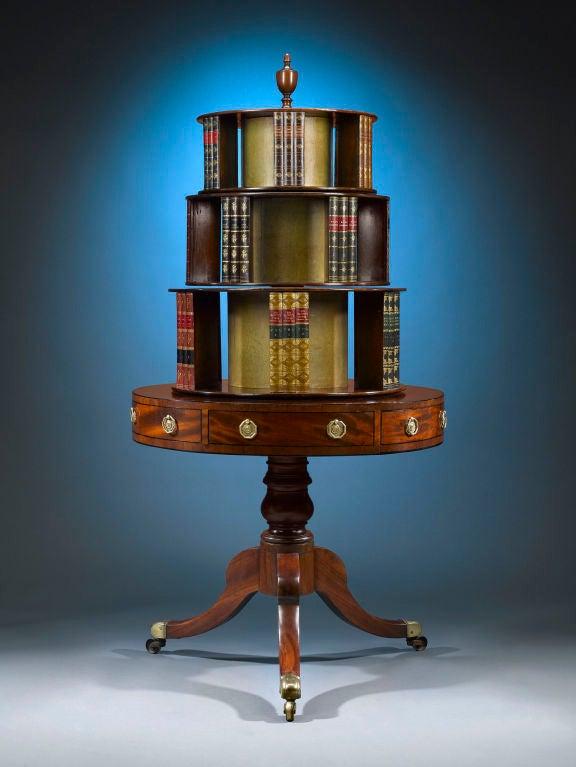 Georgian Mahogany Revolving Bookcase 2