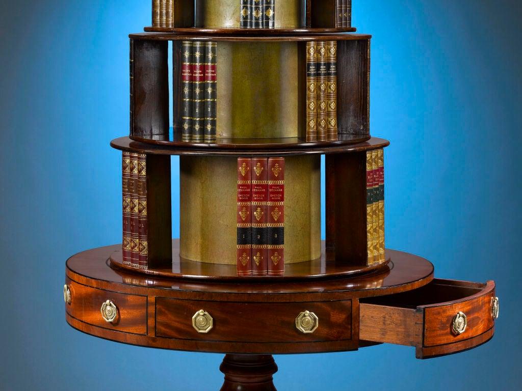 Georgian Mahogany Revolving Bookcase 3