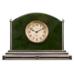 Cartier Art Deco Jade Clock