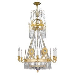Russian Cut-Glass Chandelier