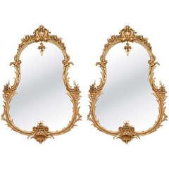Pair of Gilt Rococo Mirrors