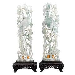 Celadon Jadeite Peacocks