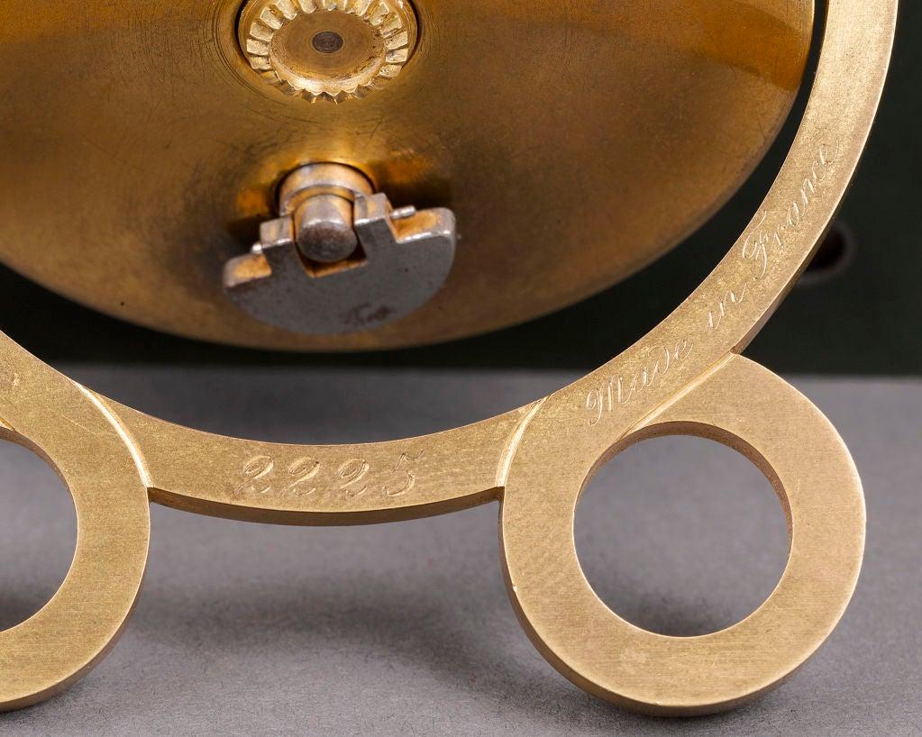Cartier Nephrite, Ruby & Enamel Desk Clock 4